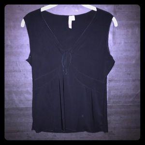Susan Lawrence black sleeveless top